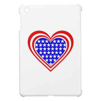 USA/Stars and Stripes flag-inspired Hearts Case For The iPad Mini