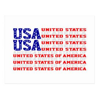 USA - Stars And Stripes Postcard
