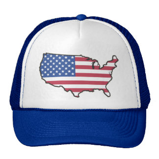 USA Stars and Stripes Red, White and Blue Trucker Hat