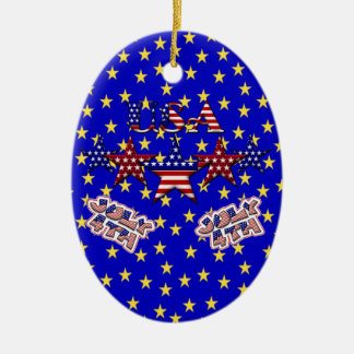 USA Stars Ornament