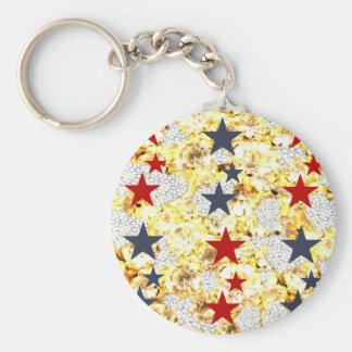 USA STARS KEY RING