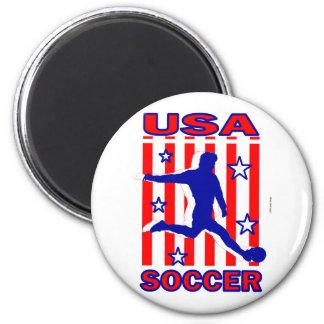 USA Stars N Stripes Soccer Magnet