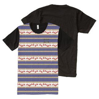 USA Stars Red Bald Eagle Homeland Shirt All-Over Print T-Shirt
