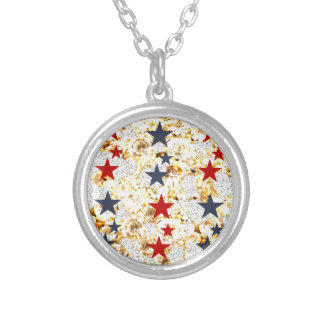 USA STARS SILVER PLATED NECKLACE