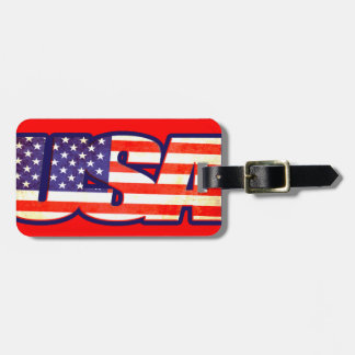 USA Stars & stripes America flag luggage tag