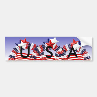 USA Stars Wreath Bumper Sticker