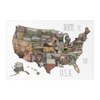 USA State Collage Acrylic Print