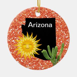 USA States Arizona - SRF Round Ceramic Decoration