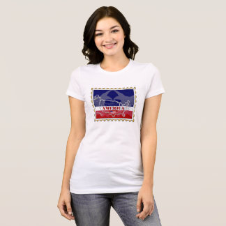 USA States Names on Stamp T-Shirt