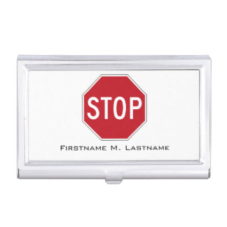 USA Stop Sign Business Card Cases