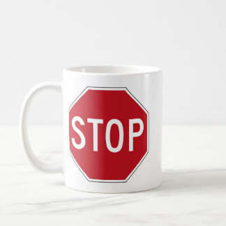 USA Stop Sign Coffee Mug