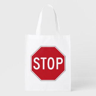 USA Stop Sign Reusable Grocery Bag