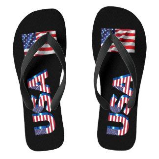 USA summer flip flops