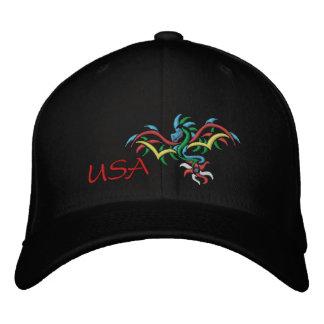 USA SUN  DRAGON EMBROIDERED BASEBALL CAP