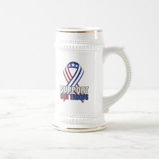 USA Support Our Troops Beer Stein