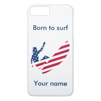 USA surfing American surfer iPhone 8 Plus/7 Plus Case