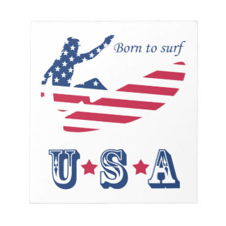 USA surfing American surfer Notepad