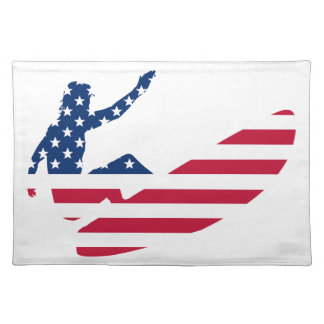 USA surfing American surfer Placemat
