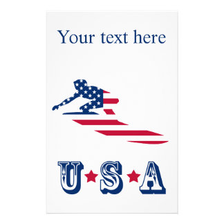 USA surfing American surfer Stationery