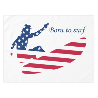 USA surfing American surfer Tablecloth