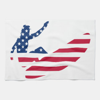 USA surfing American surfer Tea Towel