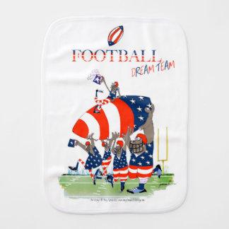 USA team work, tony fernandes Burp Cloth