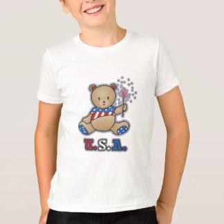 USA Teddy Bear Girls T-shirts