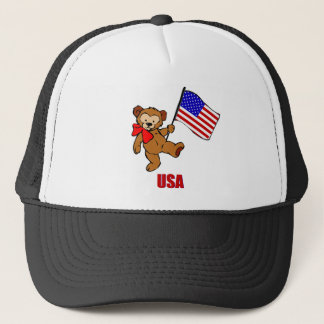 USA Teddy Bear Trucker Hat