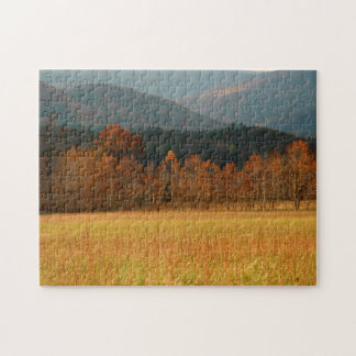 USA, Tennessee. Cades Cove In Smoky Mountain Jigsaw Puzzle