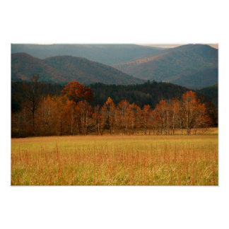USA, Tennessee. Cades Cove In Smoky Mountain Poster