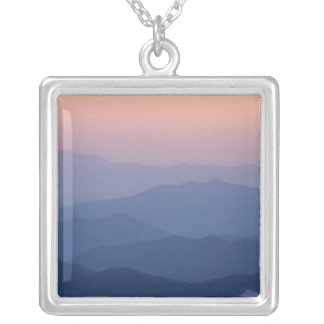 USA, Tennessee, Great Smoky Mountains National Square Pendant Necklace