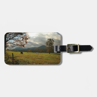 USA, Tennessee. Horses In Cades Cove Valley Luggage Tag