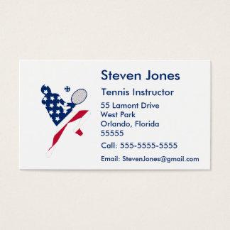 USA Tennis American player Business Card