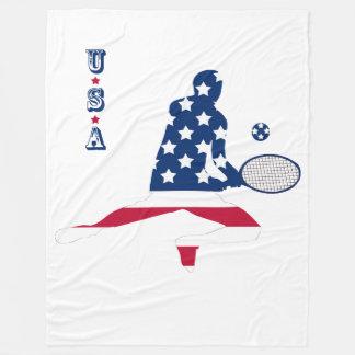 USA Tennis American player Fleece Blanket