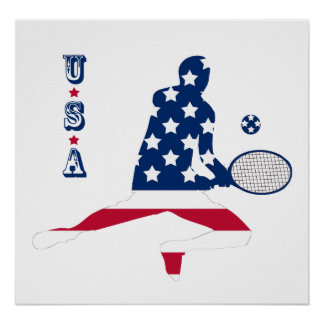 USA Tennis American player Poster