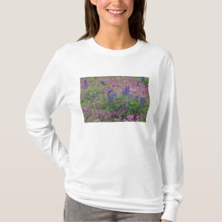 USA, Texas Hill Country. Bluebonnets among phlox T-Shirt