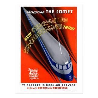 USA The Comet Vintage Travel Poster Restored Postcard