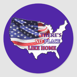 USA - There's No Place Like Home Sticker