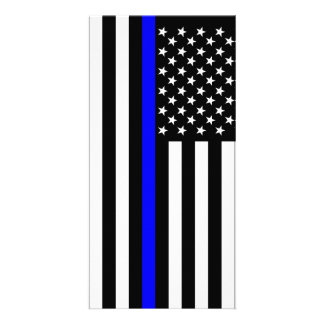 USA Thin Blue Line Photo Card