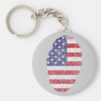 """USA Thumb 2.25"""" Basic Button Keychain"""