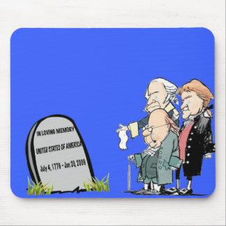 USA tombstone mousepad