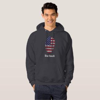 Usa touch fingerprint flag hoodie