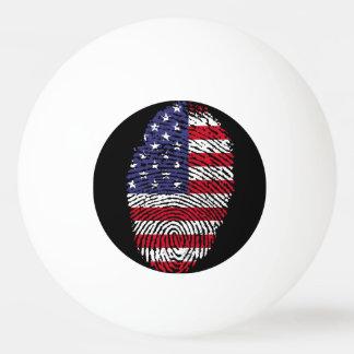 Usa touch fingerprint flag ping pong ball
