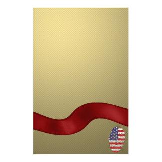Usa touch fingerprint flag stationery paper