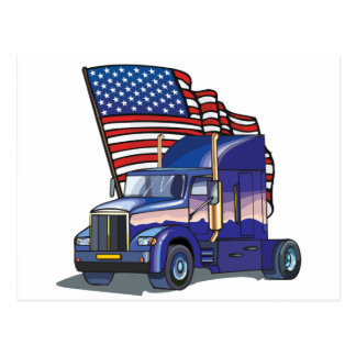 USA Truck Driver Postcard