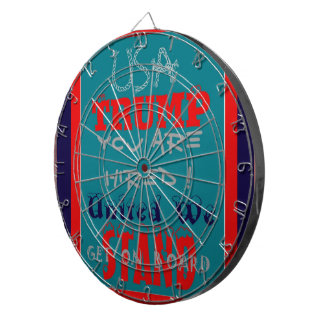 USA Trump You Are Hired! United We Stand Get On! Dart Boards