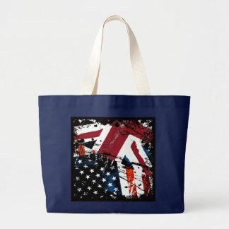 USA-UK Grunge Large Tote Bag