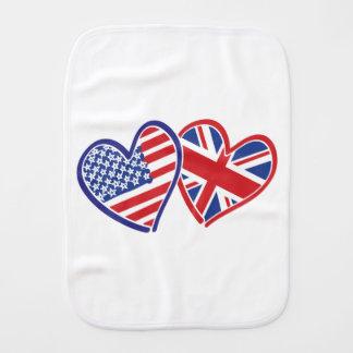 USA---UK-Love Burp Cloth