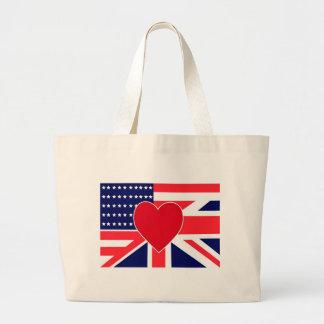 USA UK Love Canvas Bags