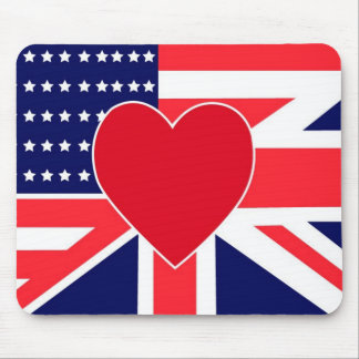 USA/UK Love Mouse Pad